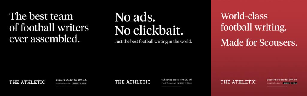 The Athletics Ads